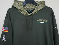 NIKE NEW YORK JETS SALUTE-TO-SERVICE HOODIE GREEN TEAM ISSUED RARE (SIZE 3XL)