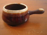 Brown Drip Handle Soup Chili Bowl Crock Ceramic Pottery Oven Proof Ovenproof USA