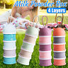 4 Layers Baby Milk Powder Feeding Case Box Formula Dispenser Food Container