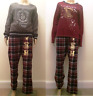 Primark Harry Potter Slytherin or Gryffindor Ladies Pyjamas Long Set Women's