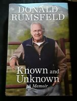 Known and Unknown: A Memoir by Donald Rumsfeld SIGNED 1ST Edition Hardcover Book