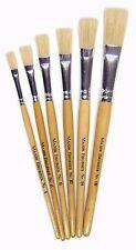 581-6 Hog Bristle Short Handle Brush Packs Short Handle Flat Tip 4,6,8,10,14,18,