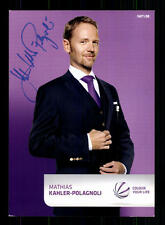 Mathias Kahler Polagnoli SAT 1 Autogrammkarte Original Signiert # BC 83678