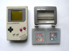 Console Nintendo GameBoy Classic 1989 DMG-01, modèle USA + light player & 2 jeux