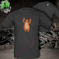 Bär Tiere niedlich Zoo Comicmotiv  fun T-Shirt 100% Baumwolle  Qualität S-3XL