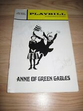 December 1971 Anne Of Green Gables Cast Signed Playbill/Jeff Hyslop/Grace Finley