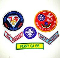 Boy Scout Patches 1980's 1990's Florida Georgia Gov Clinton Council Vintage BSA