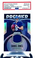2019 Prizm SILVER REFRACTOR Giants DANIEL JONES RC CARD PSA 10 GEM MINT / Pop 8