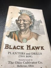 Black Hawk Farm Machinery Brochure Booklet - Indian Advertising - Bellevue Ohio