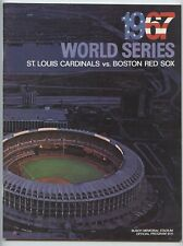 Lou Brock Autographed 1967 World Series St. Louis Cardinals Official Program-EX