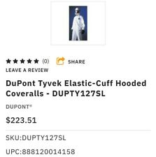 DuPont Tyvek Elastic-Cuff Hooded Coveralls - DUPTY127Sl