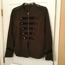 4eb5dcc0c0e Torrid Olive Green Embellished Zip Front Military Jacket Size 1 1xl