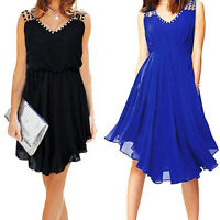 Sexy Women Summer Casual Sleeveless Party Evening Dress Short Mini Lady Dresses