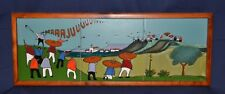 BEAUTIFUL ARTESA VEGA FIESTAS ECUADOR FOLK ART CERAMIC GLAZED TILES