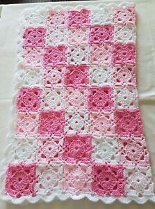 Hand made crochet baby blankets