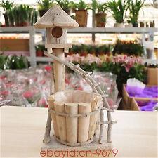 Creative garden flower pot succulents pots home decorative wooden planter box
