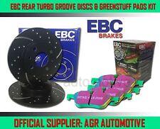 EBC REAR GD DISCS GREENSTUFF PADS 251mm FOR FIAT CROMA 2.5 TD 1986-89