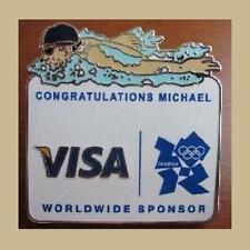 RARE RIO OLYMPICS ATHLETE MICHAEL PHELPS PIN CONGRATULATIONS MEDALS VISA LONDON
