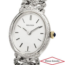 JAEGER LECOULTRE Vintage 18K White Gold Ladies' Watch 53.9 Grams NR