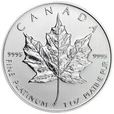 1 oz Canadian Platinum Maple Leaf $50 Coin (Random Year) .9995 Fine Platinum