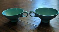 Boontonware Melamine 2 Cups Aqua blue 1206-8  Turquoise Vintage Mid Century USA