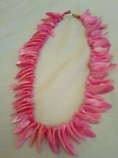 Pink Shell Bead Necklace Boho Hippie surfer Style