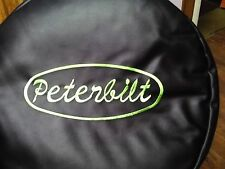 SEMI TRUCK FUEL TANK COVERS PETERBILT WITH GREEN LETTERS SET OF 2 23""
