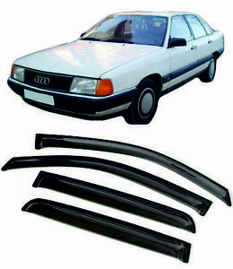 For Audi 100 SD C3 1982-1990 Window Visors Sun Rain Guard Vent Deflectors Shades
