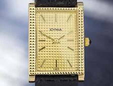 Cyma Rare Luxury Gold Plated Manual Wind Dress Watch 1970s Swiss Made T775