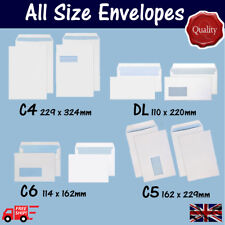 High quality DL C6 C5 C4 Envelopes - Plain & Window in all Quantities & Sizes