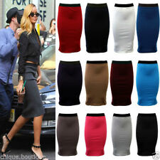 Polyester Business Patternless Unbranded Skirts for Women