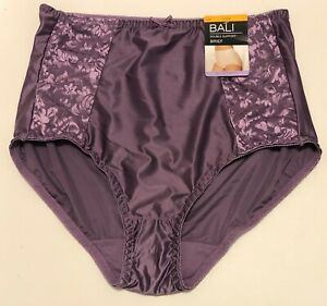 NWT Bali Double Support Brief Panty DFDBBF Purple Size 7/L