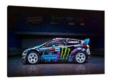 Ken Block Ford Fiesta ST - 30x20 Inch Canvas Art - Framed Picture Print