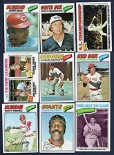 1977 Topps Baseball Finish Your Set Lot Pick 30 EX-MT To NM NEW CARDS ADDED