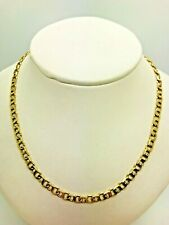 9ct Yellow Solid Gold Fancy Link Chain - 24""