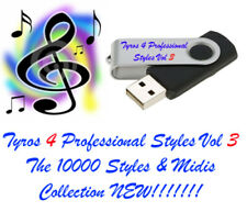 Tyros 4  Professional styles and Midi's USB pen drive for Yamaha Keyboards.