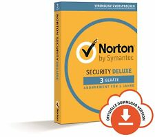 NORTON (Internet) SECURITY DELUXE 3-Geräte / 2 Jahre 2018 PC/Mac/Android / KEY