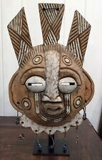 Rare hand sculpted Ghana Mask fertility and prosperity wall hanging or stand