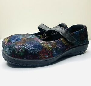 Arcopedico Mary Jane Flats Comfort Shoes Patterned Colourful Size 39