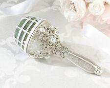 Jeweled Bouquet Holder Bride Wedding DIY Vintage Style Silver Resin Reception