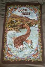 "Vintage Cotton Clive MayoKitchen Tea Towel Loch Ness Monster Scotland 30""x19"""