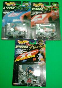 (3) Team Hot Wheels Pro Racing Collector Edition Test Track 1998 NIP!