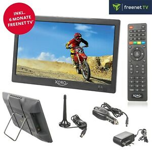 """Xoro PTL 1050 Camping LED TV DVB-T2 tragbarer Fernseher 10"""" 25 cm 12V 24V 230V"""