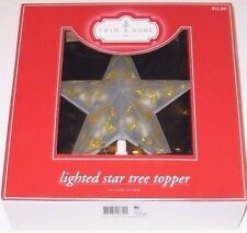 Trim A Home Lighted Star Tree Topper, 8 x 3 x 7 inches, Gold Glitter, New
