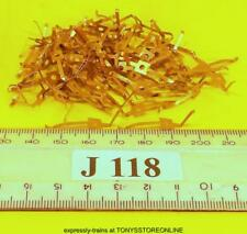 j118 jouef ho spares 50x shaped brass loco terminals/pick-ups many apps