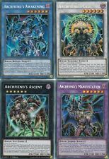 YUGIOH  4 CARD SET - ARCHFIEND'S AWAKENING, CALL, ASCENT & MANIFESTATION FIGA