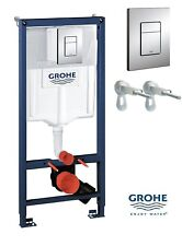 Grohe Rapid SL Cosmo 3 In 1 Wall Hung WC Frame with Cistern & Button 38772001