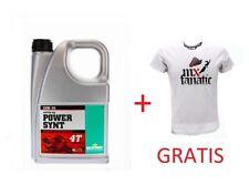 Power Synt 4T 10W/50 4L + Original Acerbis Junior T-Shirt Größe M