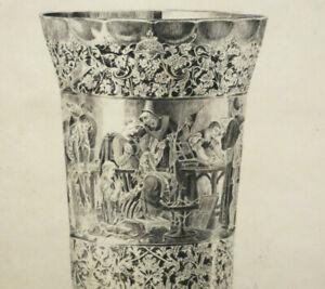 EAU FORTE Originale HOTIN 1850 1910 Gobelet des Arts Décoratifs d'André Falize