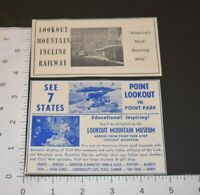 1963 Vintage Print Ad Lot Point Lookout Mountain Incline Railway Chattanooga